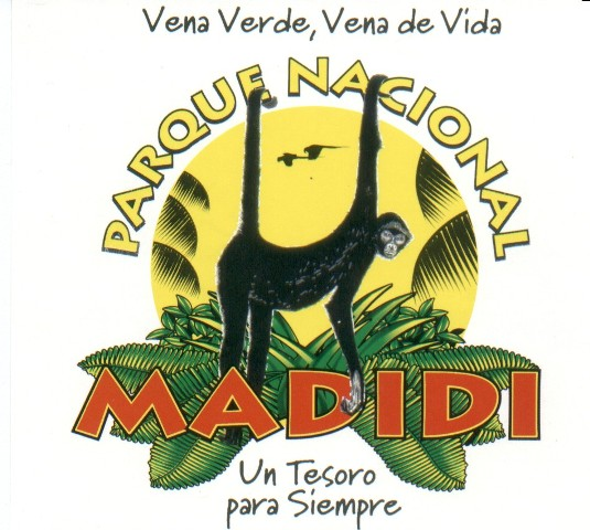 Behind logo – Team Madidi national park warden