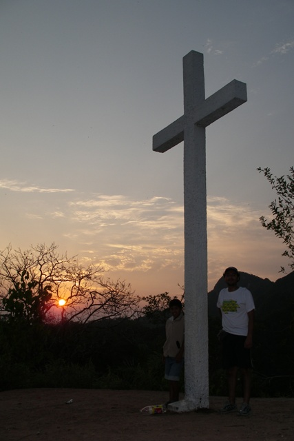 The cross on top of the mountain