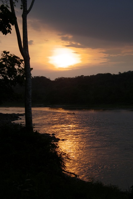 Beni river at sunset